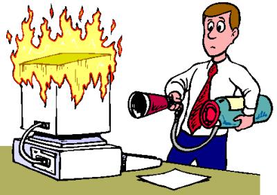 Le feu à l'ordinateur