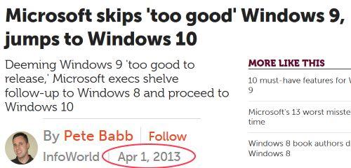 Windows 10, premier avril