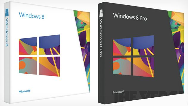 Windows 8 boites